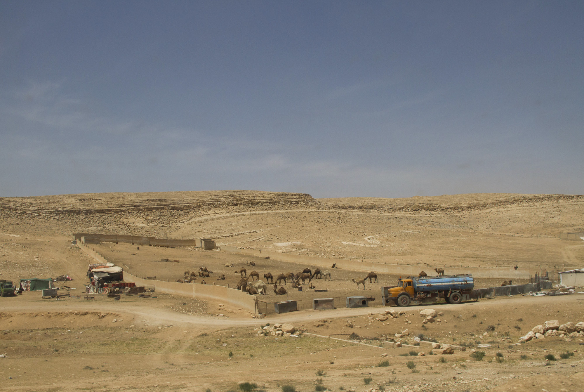 Jordan is a land of contrast: while on the one hand there are lush green hills, a few meters further is dusty and desolate desert.
