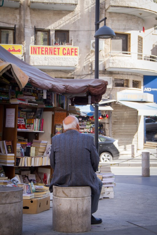 Jordanian business and life happen on the streets. Old people are well integrated into the society. They participate in social life.